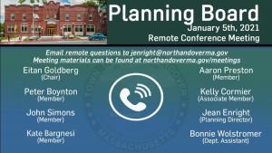 Planning Board - 01.05.2021