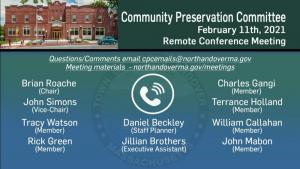 Community Preservation Committee - 02.11.2021