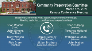 Community Preservation Committee - 03.04.2021