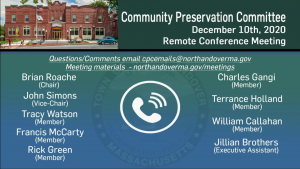 Community Preservation Committee - 12.10.2020