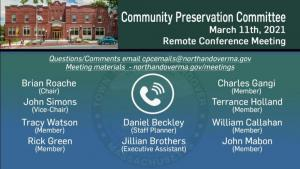 Community Preservation Committee - 03.11.2021