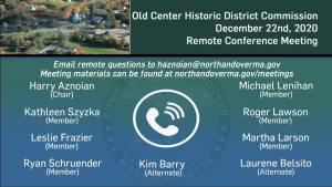 Old Center Historic District Commission - 12.22.2020
