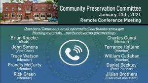 Community Preservation Committee - 01.14.2021