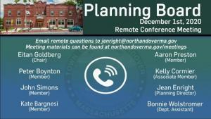 Planning Board - 12.01.2020