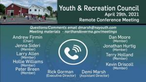 Youth and Recreation Council Meeting - 04.29.2021