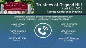 Trustees of Osgood Hill Meeting - 04.12.2020