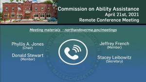 Commission on Ability Assistance - 04.21.2021