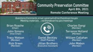 Community Preservation Committee - 04.08.2021