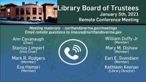 Library Board of Trustees - 01.05.2021