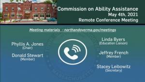 Commission on Ability Assistance - 05.05.2021