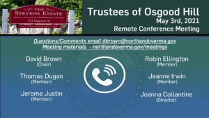 Trustees of Osgood Hill Meeting - 05.19.2021