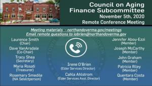Council on Aging - Financial Subcommittee - 11.05.2020