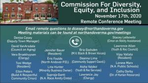 Commission for Diversity, Equity and Inclusion - 11.17.2020