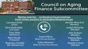 Council on Aging Financial Sub Committee