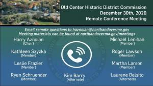 Old Center Historic District Commission - 12.30.2020
