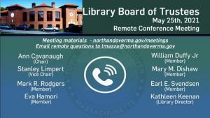 Library Board of Trustees - 05.25.2021