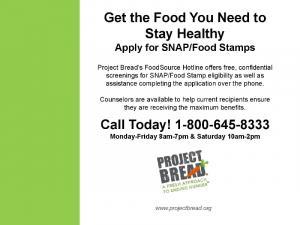 ![CDATA[ Project Bread FoodSource Hotline ]]