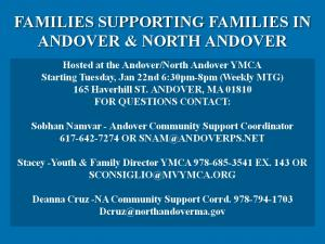 ![CDATA[ FAMILIES SUPPORTING FAMILIES IN ANDOVER & NORTH ANDOVER ]]