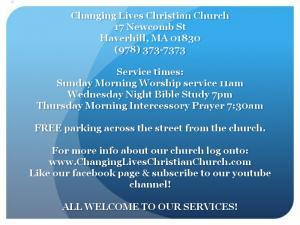 ![CDATA[  Changing Lives Christian Church. ]]