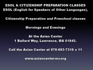 ![CDATA[ ESOL & CITIZENSHIP PREPARATION  CLASSES  ESOL (English for Speakers of Other Languages),   ... ]]