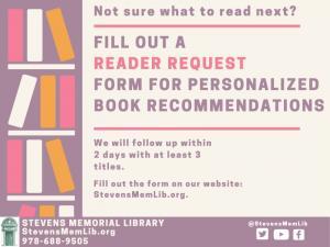![CDATA[ StevensMemLib Reader Request Flyer UPDATED 2020-08-21 ]]