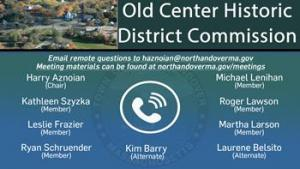 Old Center Historic District Commission