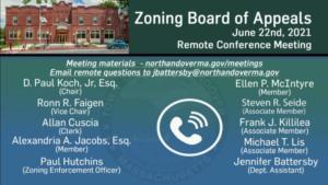 Zoning Board of Appeals - 06.22.2021